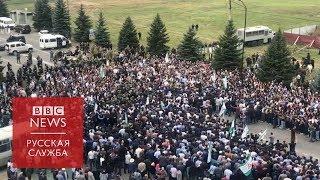 Протесты в Ингушетии против соглашения о границе с Чечней
