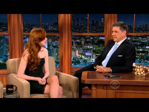 Karen Gillan on the Late Late  20121128