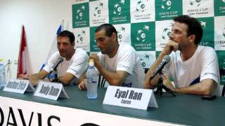 Davis Cup press conference with Erlich and Ram (Israel) after losing to Nestor and Pospisil (Canada)
