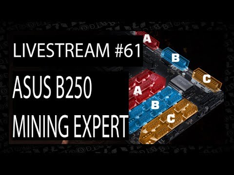 Live VLOG #61 - Asus B250 Mining Expert 19GPU Cryptocurrency Motherboard