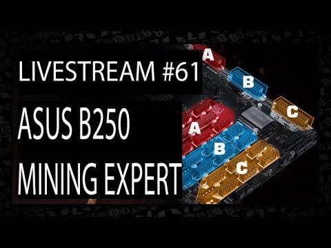 Live VLOG #61 - Asus B250 Mining Expert 19GPU Cryptocurrency Motherboard