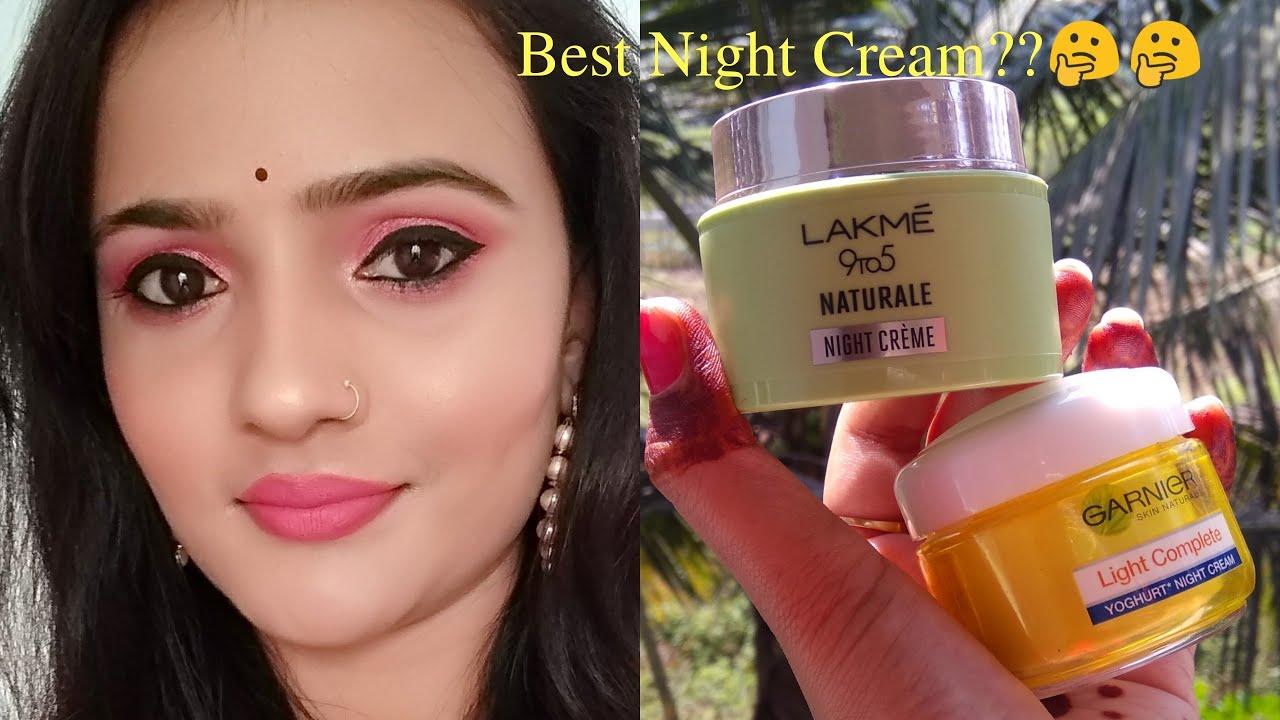 Garnier Night Cream V/S Lakme Naturale Night Cream l Must Watch l Tiny Makeup Update