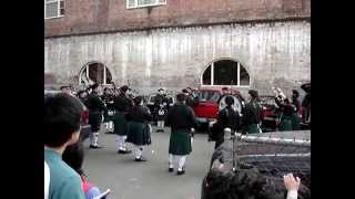 "Irish Bagpipers Warm Up with  ""Scotland the Brave"" and ""The Rowan Tree"""