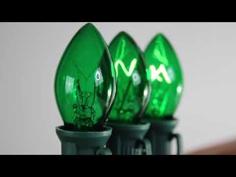Green C7 Twinkle Bulbs