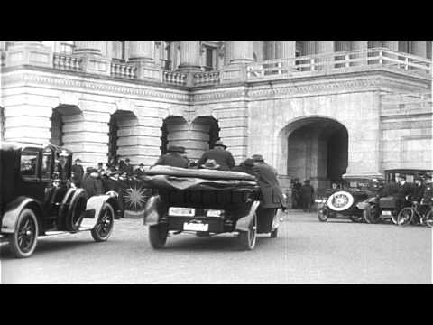 Gathering of officials outside the US capitol building on occasion of President W...HD Stock Footage