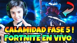 PLAYING *FORTNITE WITH SKIN CALAMITY PHASE 5 LIVE WITH HUGO MARKER