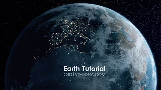 Photo-Realistic Earth in 10 min, Cinema 4D Tutorial