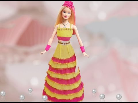 Kids Diy Craft Ideas How To Make A Doll Dress From Crepe Paper