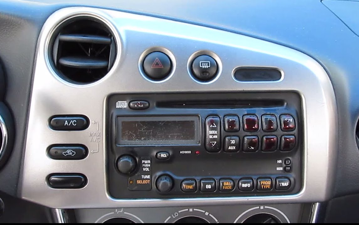 small resolution of diy how to install aftermarket stereo for toyota matrix 2003 2004 youtube