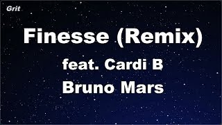 Finesse (Remix) feat. Cardi B - Bruno Mars Karaoke 【No Guide Melody】 Instrumental