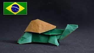 Origami:  Tartaruga ( Sergey Yartsev ) -  Instruções em português PT BR