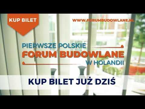 Kup swój bilet na Pierwsze Polskie Forum Budowlane w Holandii