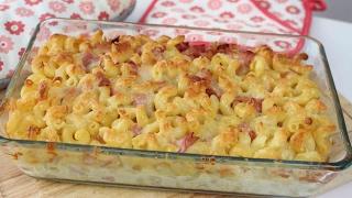 Rezept - NUDELAUFLAUF mit Schinken und Käse | Kochvideo #Kochenmitmelodie