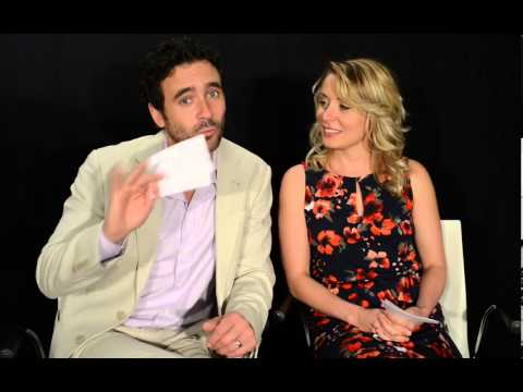 Allan Hawco and Krystin Pellerin answering 's questions