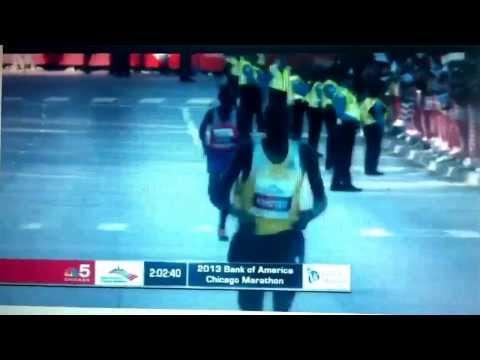 Finish of The Bank of America Chicago Marathon