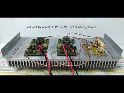 TEST FINALE HF MRF422 X4 HAM RADIO IK2NBU
