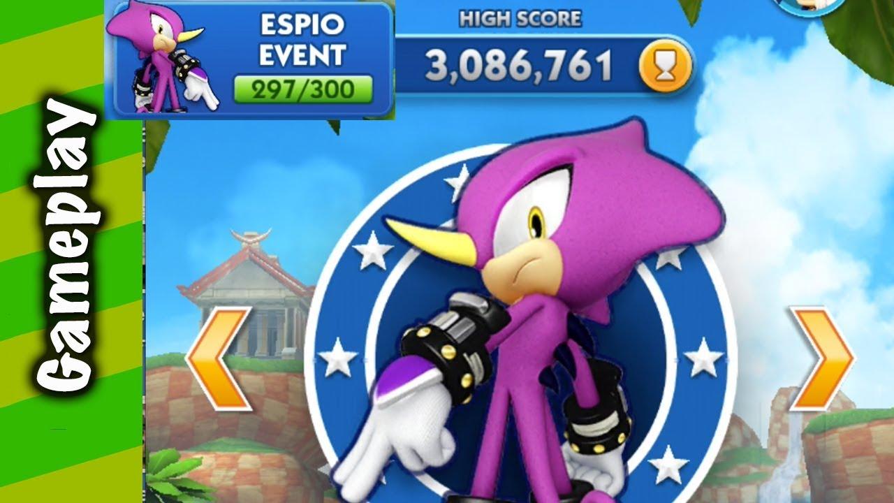 Sonic Dash Espio Token Event Gameplay Youtube