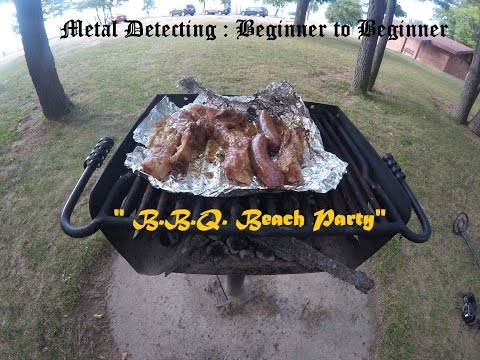 Metal Detecting : Beginner to Beginner = B.B.Q. Beach Party 2016