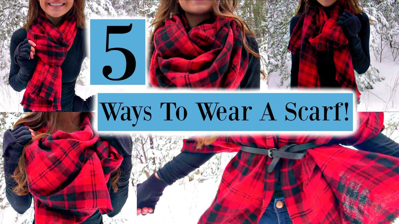 5 Ways To Wear A Scarf!
