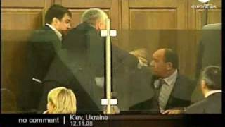 Parliament fight in Ukraine - No comment