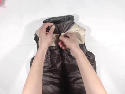 женская жилетка синтепон весна/осень - YouTube