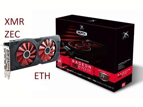 XFX RS Radeon RX 570 4GB Black Edition mining performance