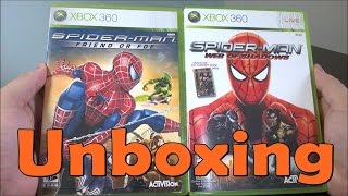 Spider Man Friend or Foe  \ Spider Man web of Shadows - Xbox 360 - UNBOXING