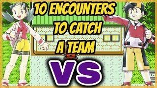 10 Encounters To Catch A Team.. Then We Fight!! - Pokemon Crystal