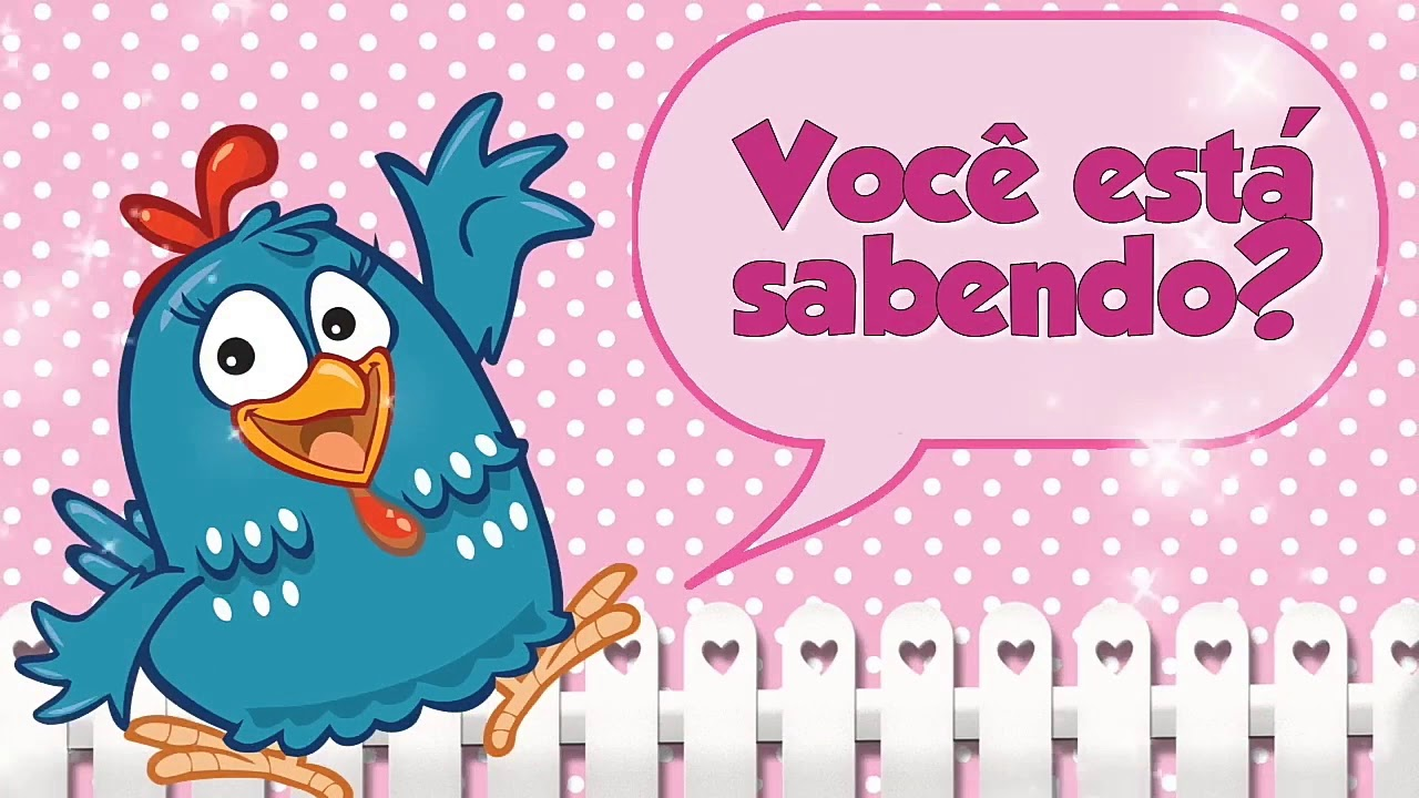 Convite Animado galinha pintadinha rosa YouTube