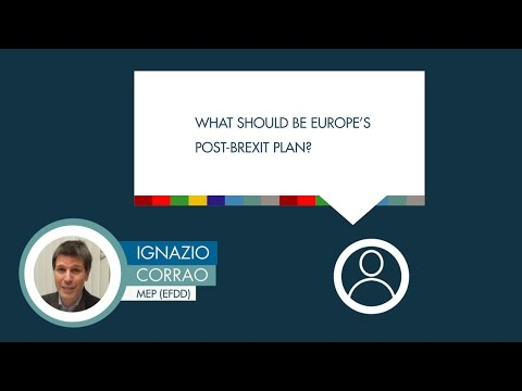 Ignazio Corrao responds to a question on the EU's post-Brexit plan