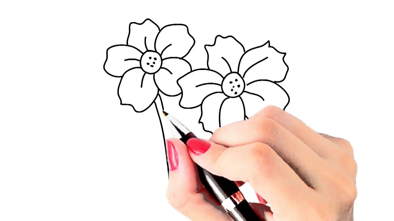 How To Draw Beautiful Flowers Yzarts Yzarts Youtube