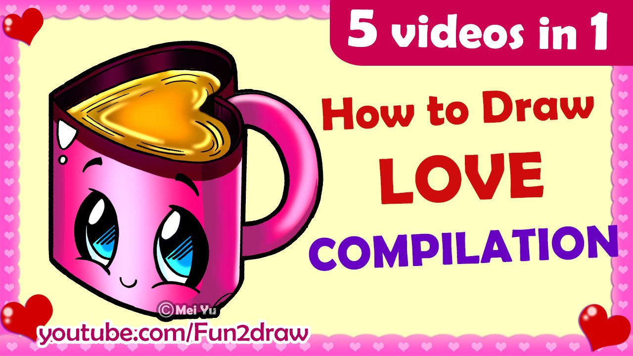 5 cute love drawings in 1 how to draw easy cute love cartoons 5 cute love drawings in 1 how to draw easy cute love cartoons mei yu fun2draw youtube kristyandbryce Images