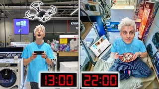 24 HOURS IN AN ELECTRONICS STORE CHALLENGE !