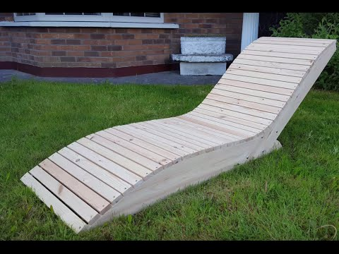 Comment faire une chaise longue youtube for Chaise longue double en bois