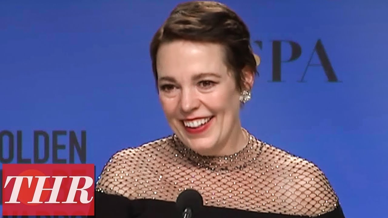 Golden Globes Winner Olivia Colman Full Press Room Speech | THR