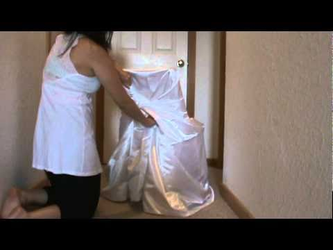How To Put Bag Chair Cover On Chair Mpg Youtube