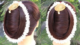 Most Beautiful n Easy French Bun Hairstyle || hairstyles || bridal hairstyle hair style girl