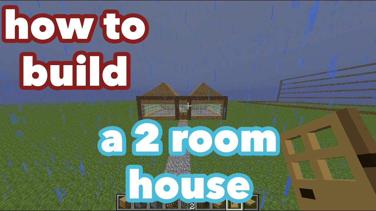 How To Build A Two Room House In Minecraft Youtube
