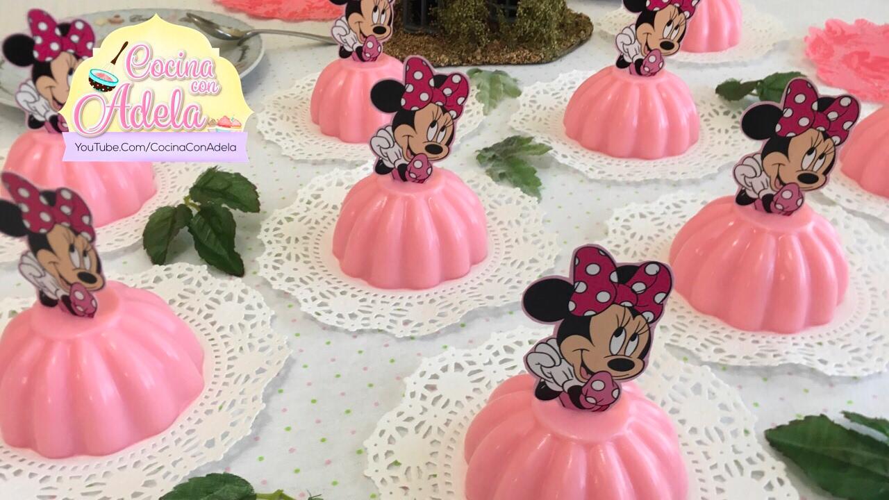Como hacer gelatinas de minnie mouse individuales youtube - Individuales para mesa ...