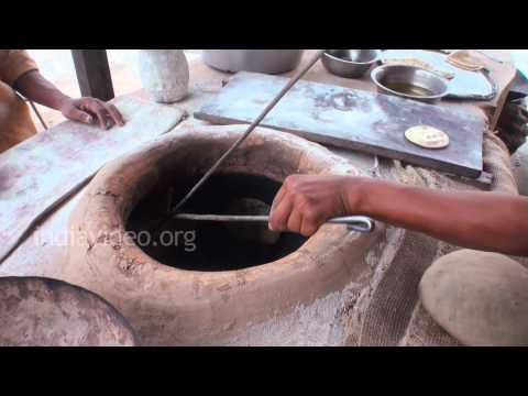 Tandoori Roti making in a Dhaba, Ambala