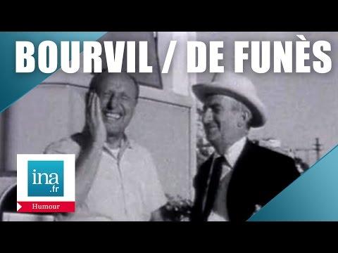 Bourvil et Louis de Funès improvisent (rare) | Archive INA