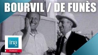 Bourvil et Louis de Funès improvisent (rare) - Archive INA