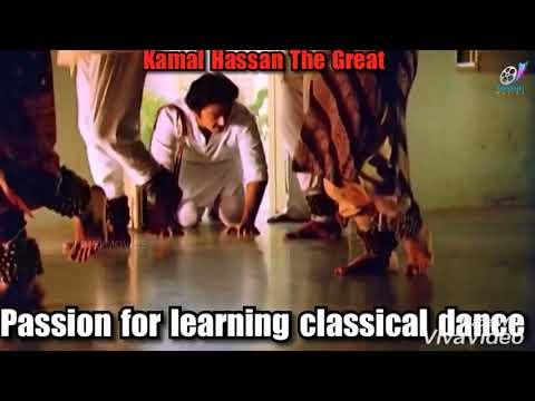 Passion for learning classical dance- Kamal Hassan the great in movie: Sagara Sangamam.
