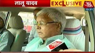 Bihar Elections: Lalu Prasad Yadav Flashes Victory Sign