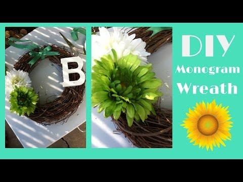 How to do a Monogram Wreath