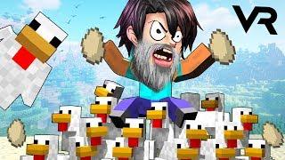 VR   ПОВЕЛИТЕЛЬ КУРИЦ В МАЙНКРАФТЕ - Minecraft ВР #2