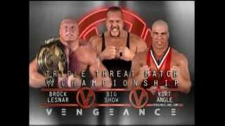 WWE PPV Vengeance 2003 - Brock Lesnar vs Big Show vs Kurt Angle Promo
