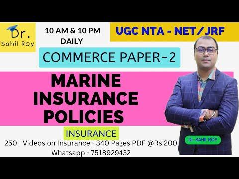 MARINE INSURANCE POLICIES