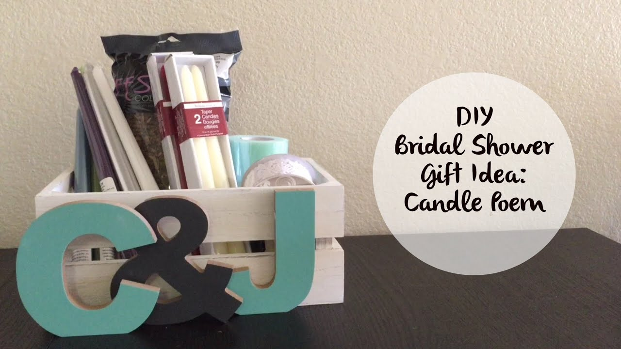Homemade Wedding Shower Gifts: How To Make A Candle Poem Basket For A Bridal Shower Gift