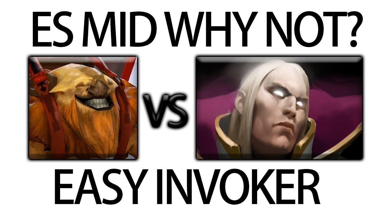 Earth Shaker Mid vs Invoker Gameplay by Navi Dendi Dota 2